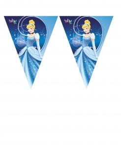 Cinderella™-Wimpelgirlande Raumdeko blau 3,6m