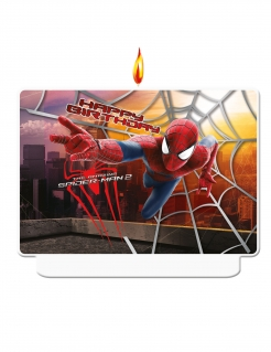 Spiderman™-Kerze Geburtstagskerze The Amazing Spiderman 2™ Deko bunt 8x3x10cm
