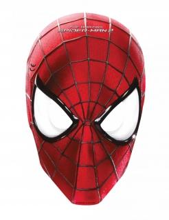 Spider Man™ Pappmasken-Set 6 Stück rot-schwarz-weiss