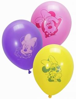 Minnie Maus™-Luftballons Partydeko 10 Stück rosa-weiss 28cm