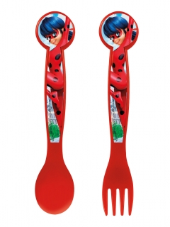 Ladybug™-Besteck Tischdeko rot-blau 16cm