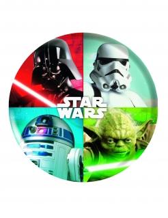 Star Wars™-Teller aus Melamin Tischdeko bunt 21cm