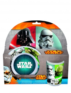Star Wars™-Frühstücksset Melamin 3-teilig bunt