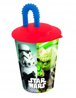 Star Wars™-Becher mit Strohhalm bunt 400ml