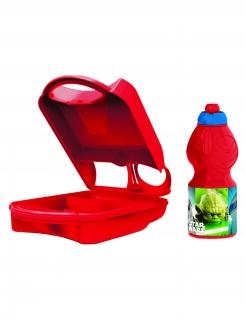 Star Wars™-Set Trinkflasche und Brotbox rot-bunt 24x15cm