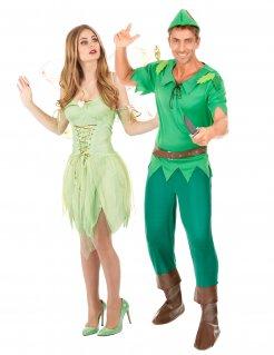 Märchen-Paarkostüm für Männer und Frauen Karneval grün-braun