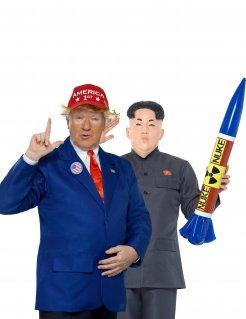 Präsident und Dikator-Paarkostüm für Erwachsene Karneval blau-rot-grau