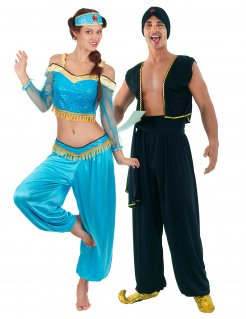 Orientalisches Paarkostüm Erwachsene Karneval bunt