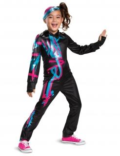 Lego™-Kostüm für Kinder Lucy Lego Movie 2 schwarz-blau-pink