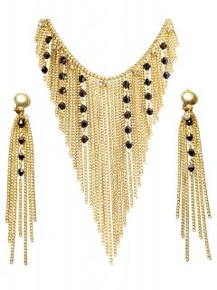 Schmuck-Set ägyptische Königin goldfarben-schwarz