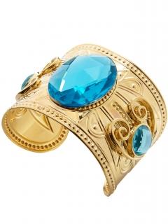 Ägyptisches Armband für Damen Antike-Schmuck gold-blau