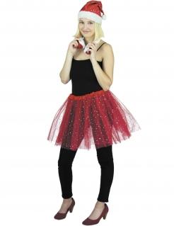 Funkelnder Petticoat Tüll-Rock Kostüm-Accessoire rot