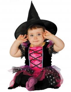 Süsse Hexe Babykostüm schwarz-pink