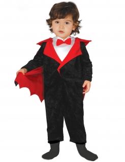 Vampirkostüm für Kleinkinder Halloween schwarz-rot