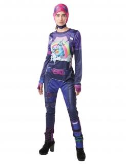 Fortnite™-Brite Bomber-Kostüm für Damen Faschingskostüm violett-bunt