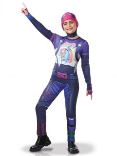 Fortnite™ Brite Bomber-Kostüm für Kinder Faschingskostüm violett-bunt