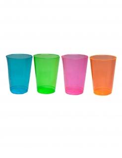 Kunststoffgläser 50 Stück bunt 296 ml