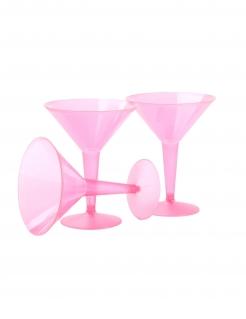 Martini-Gläser Einweg-GläserGläser Einweg-Gläser 10 Stück pink 237 ml
