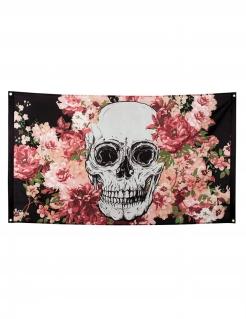 Skelett-Flagge Halloween-Dekoration bunt 90x150cm