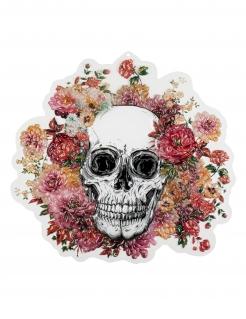 Skelett-Dekoration floral Halloween-Dekoration Tag der Toten bunt 46x50cm
