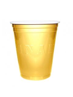 Partybecher aus Kunsstoff 20 Stück goldfarben 530 ml