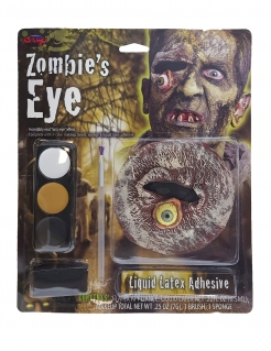 Zombie-Auge Make-up-Set Halloween-Makeup schwarz-ocker-weiss
