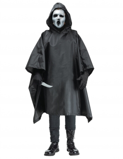 Scream™ Killer-Kostüm für Herren TV-Serie Halloween-Kostüm schwarz-weiss
