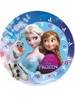 Frozen™-Zuckerplatte Kuchendeko bunt 18,5cm