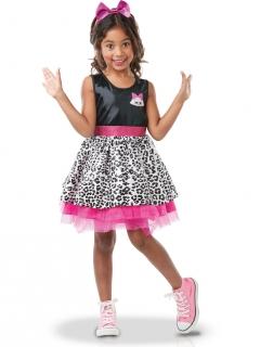 Diva-Kostüm für Mädchen LOL Surprise™ schwarz-weiss-rosa