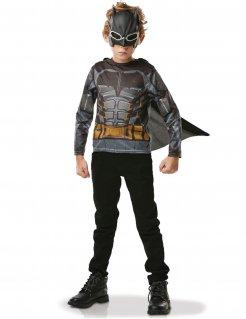 Batman™-Kostüm für Kinder mit Umhang und Maske grau-gelb