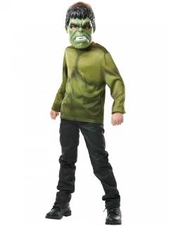 Hulk™-Oberteil und Maske für Kinder Marvel™ grün