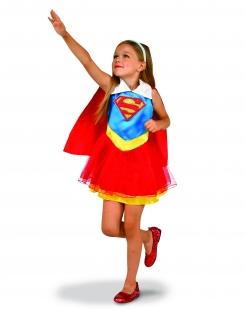 Supergirl™-Mädchenkostüm DC Super Hero Girls™ blau-rot-gelb