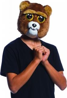Bewegliche Bär-Maske Sir Growls-a-lot Feisty Pets™ Halloween braun-weiss