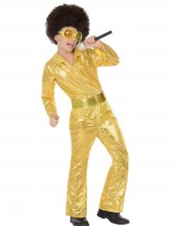 Disco-Kostüm für Jungen goldfarben