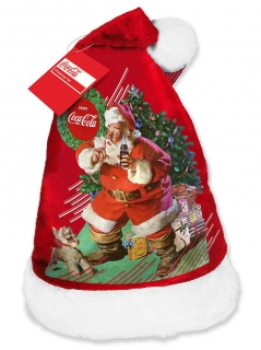 Weihnachtsmütze von Coca Cola™ bunt