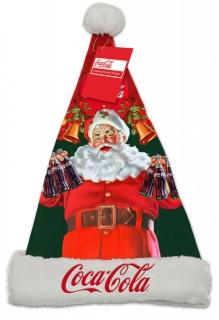 Leuchtende Weihnachtsmann-Mütze Coca Cola™ bunt