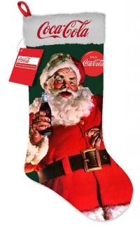 Leuchtender Weihnachtsmann-Strumpf Coca Cola™ bunt 26x53cm