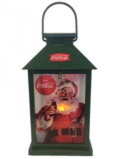 Coca Cola™-Laterne Weihnachts-Deko bunt 12x26cm