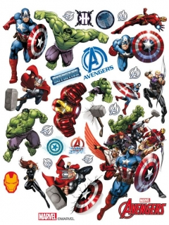 Avengers™-Fenstersticker bunt 30x20cm