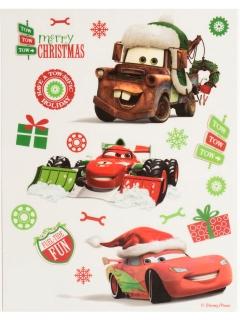 Cars™-Fensterdekoration Raumdeko Weihnachten rot-grün 30x20cm
