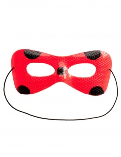Ladybug™-Maske mit Bonbons Miraculous™ Accessoire rot-schwarz