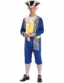 Marquis-Männerkostüm Faschingskostüm blau-gold