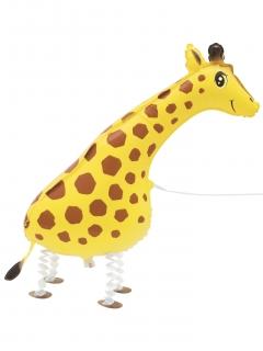 Aluminiumballon Giraffe gelb-braun-schwarz 86,3cm