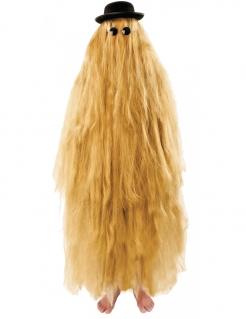 Langhaariger Verwandter Kostüm-Set für Erwachsene blond