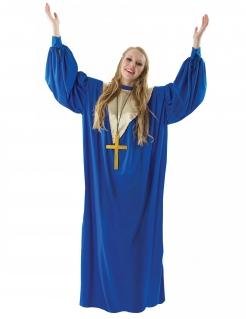 Gospelsängerin-Kostüm für Damen Faschingskostüm blau-gold