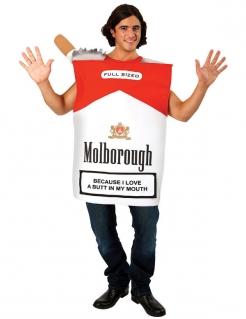 Zigarettenschachtel-Kostüm für Herren weiss-rot-schwarz