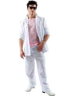 Florida-Detektiv Männerkostüm weiss-rosa