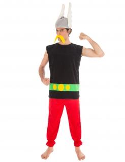 Asterix-Kostüm für Herren Lizenzkostüm schwarz-rot