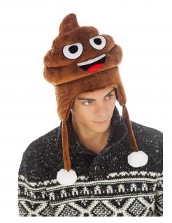 Emoji™-Mütze Kackhaufen Accessoire braun