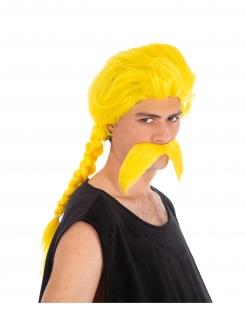 Verleihnix™-Accessoires für Herren Bart und Perücke gelb
